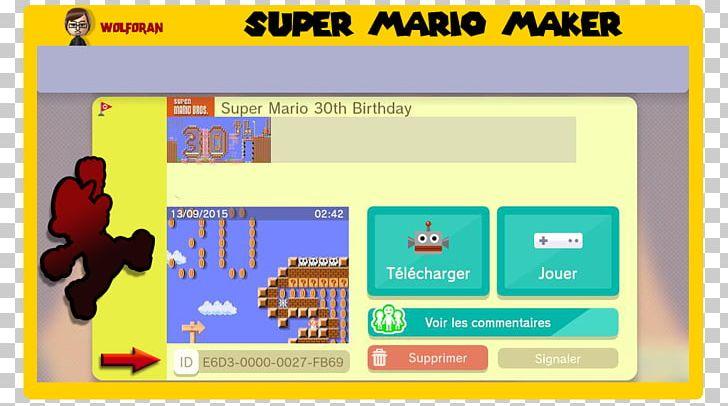 Super Mario Maker Super Mario Bros  Super Mario World Wii U PNG