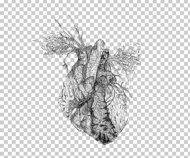 Drawing Tumblr Heart Blog PNG, Clipart, Anatomy, Black And White