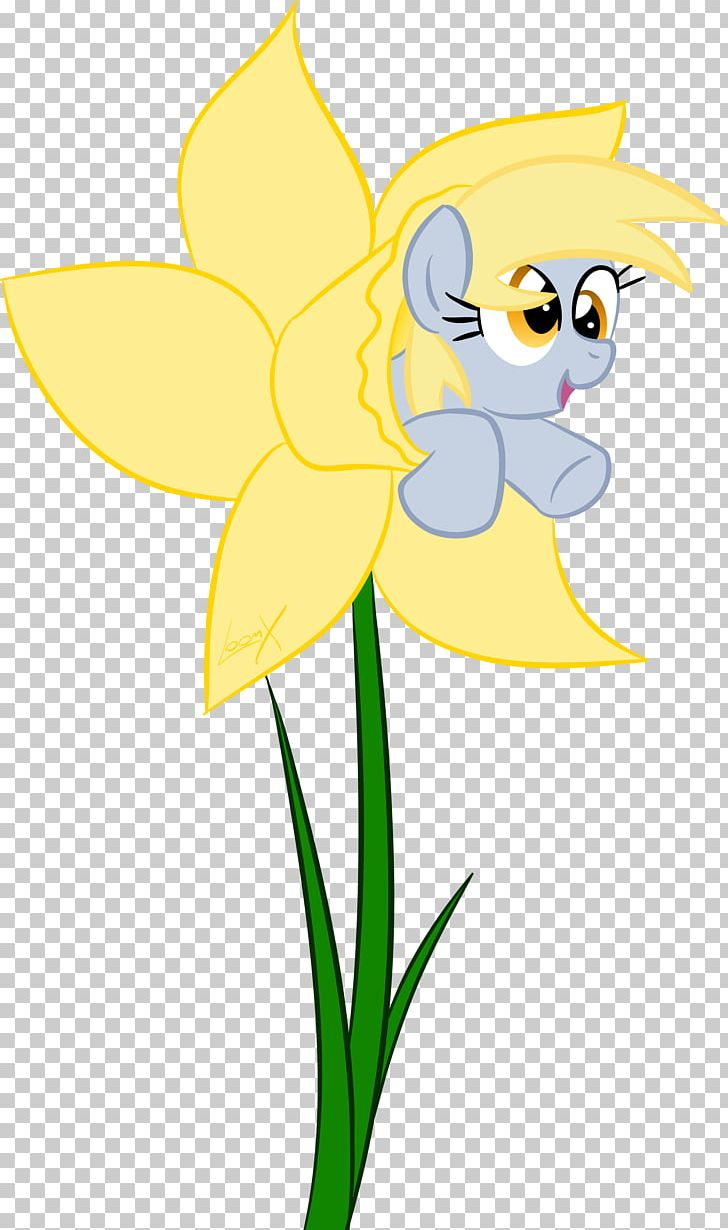 Derpy Hooves Pony Flower Pollinator PNG, Clipart, Art, Artwork, Cartoon, Cut Flowers, Daffodils Free PNG Download