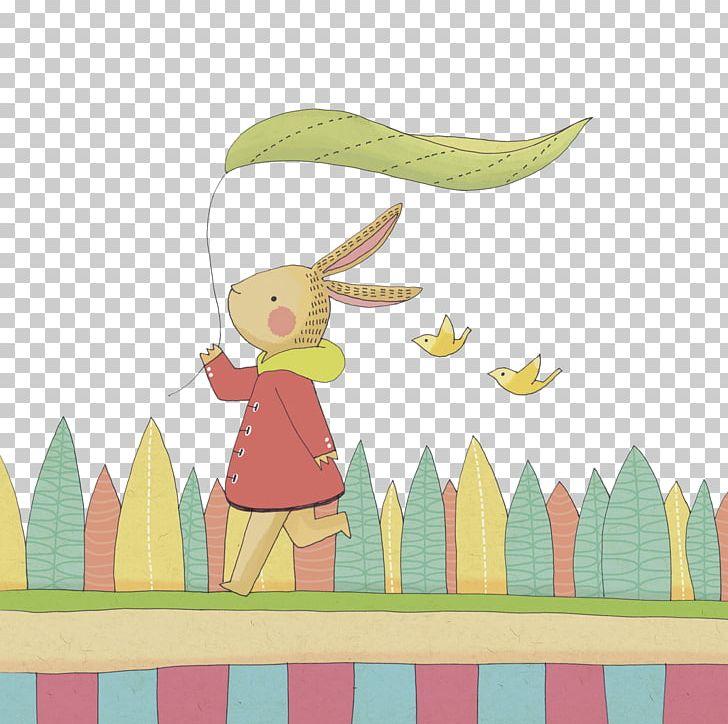 Rabbit Blue Illustration PNG, Clipart, Animals, Art, Bird, Cartoon, Coat Free PNG Download