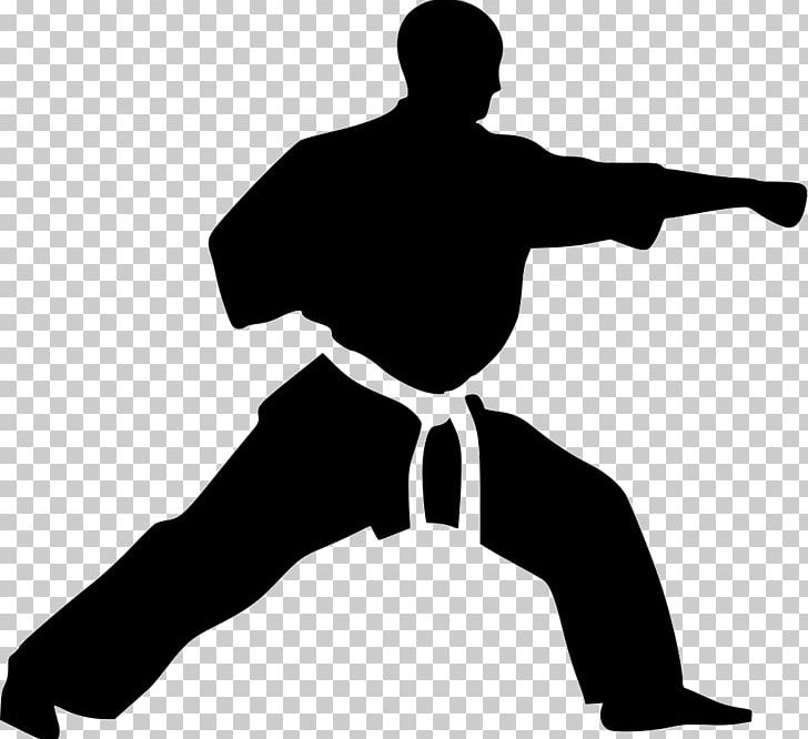 Karate Martial Arts Kick Sparring PNG, Clipart, Angle, Arm, Art Wall, Black, Black And White Free PNG Download