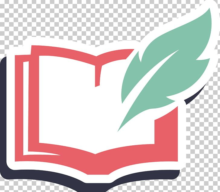 Books logo. Book drawing pen png