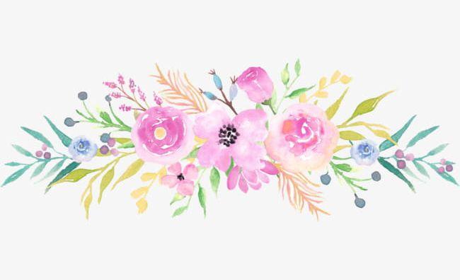 Bouquet Watercolor Flowers PNG, Clipart, Bouquet Clipart, Bunch ...