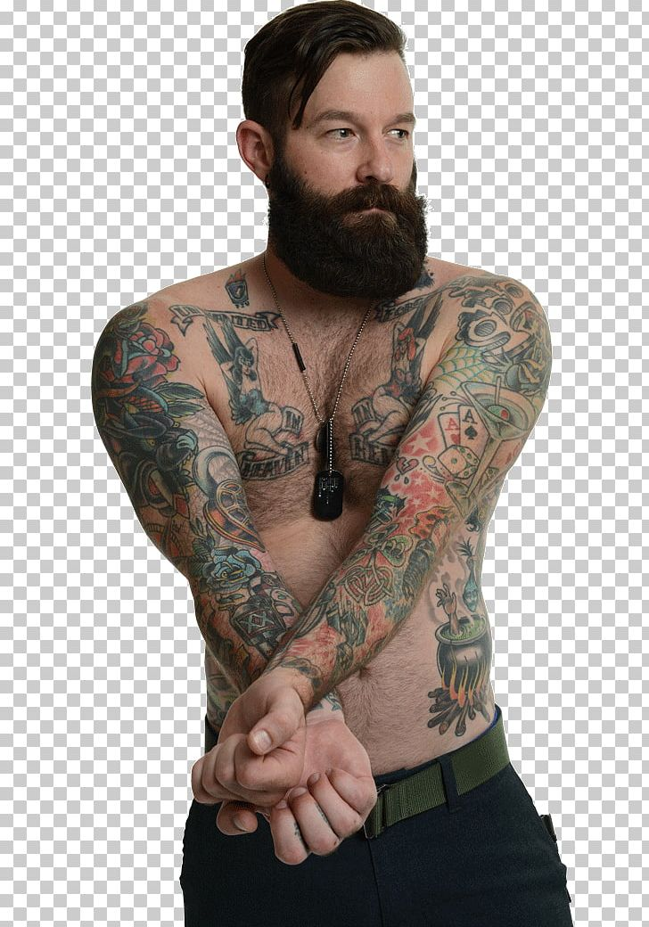 Tattooed soldier tugging