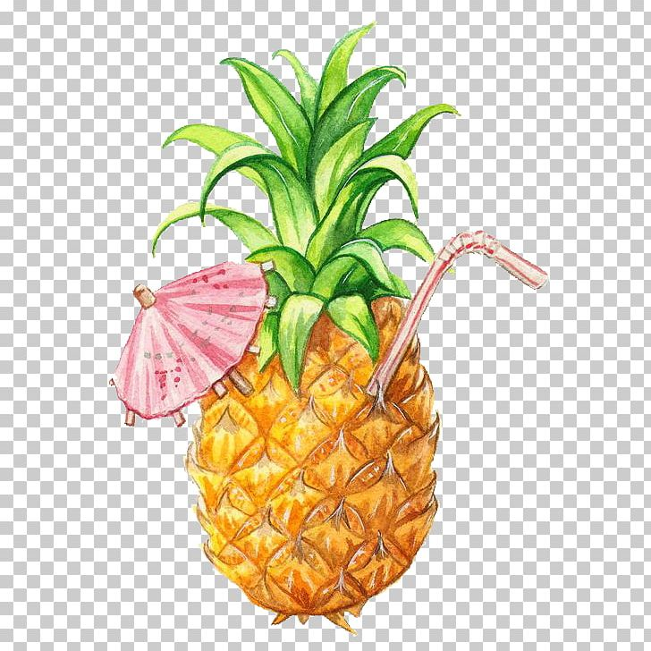 Juice Smoothie Pineapple Drawing Fruit PNG, Clipart, Art, Bromeliaceae, Cartoon, Cartoon Pineapple, Food Free PNG Download
