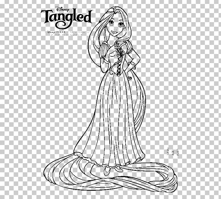rapunzel coloring book disney princess