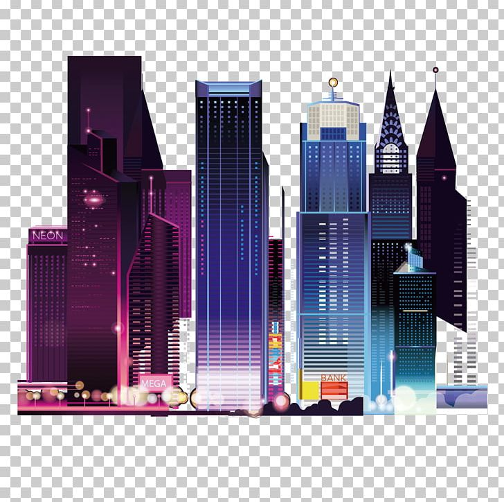 City Landscape Architecture Of Night View PNG, Clipart, Big City, Building, City, City Landscape, City Night Sky Free PNG Download