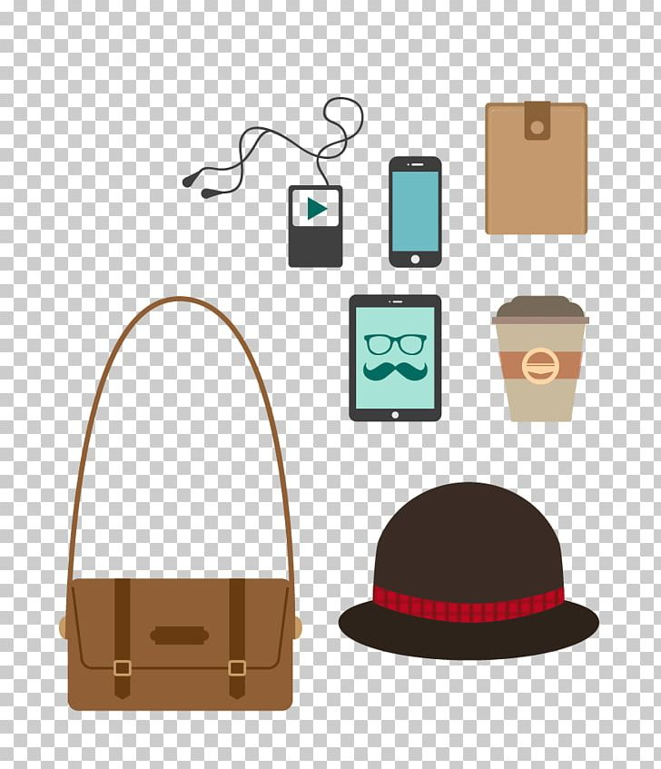 Hipster Fashion Illustration PNG, Clipart, Bags, Cap, Cell Phone, Christmas Hat, Computer Free PNG Download
