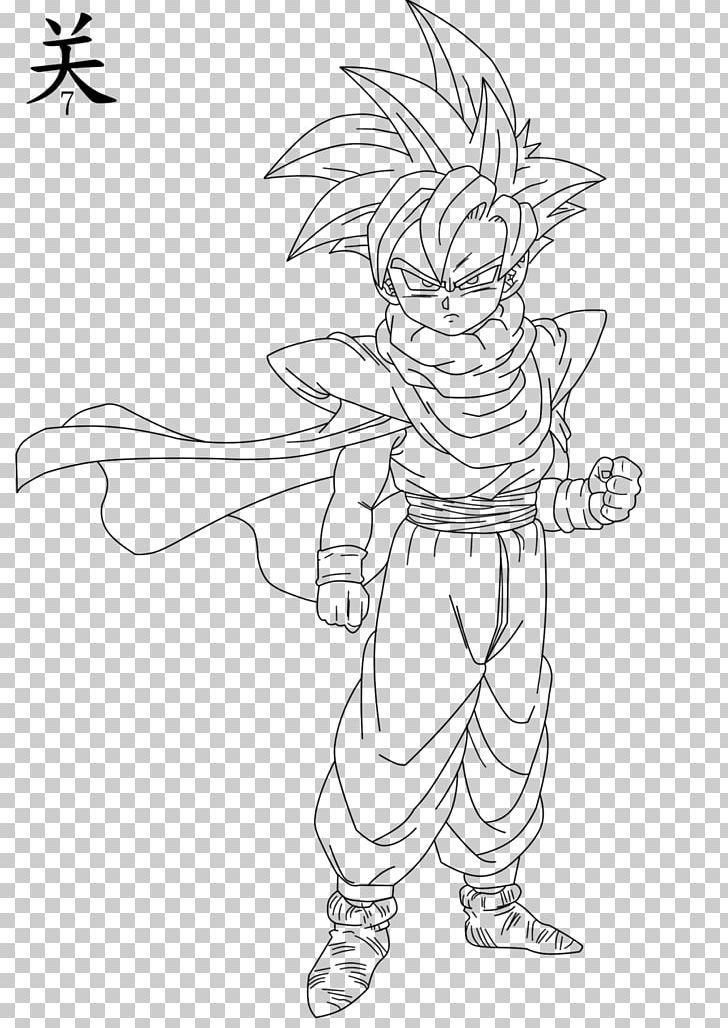 Gohan Goku Line Art Frieza Goten Png Clipart Arm Artwork