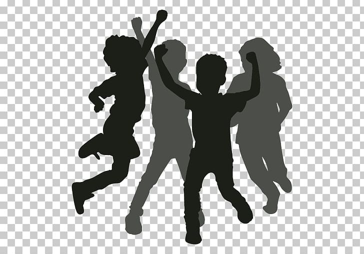 Silhouette Dance Png Clipart Animals Black And White Child Children Playing Clip Art Free Png Download