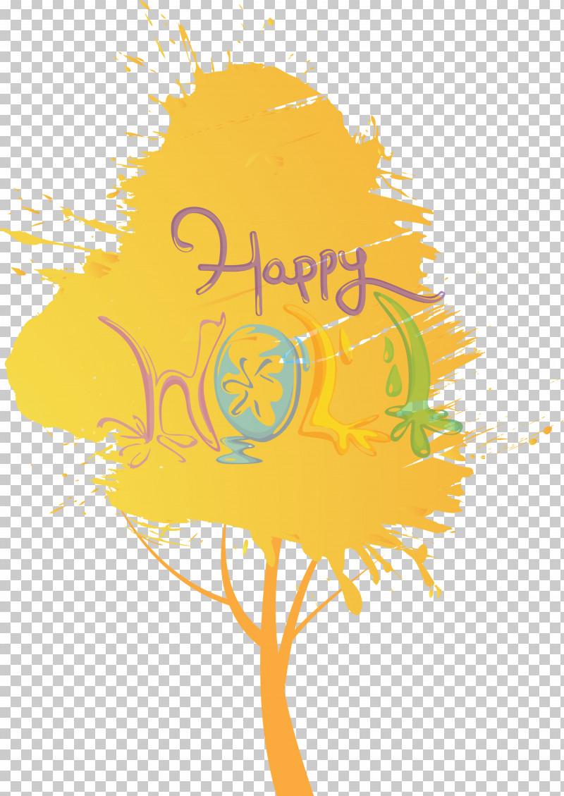 Holi Happy Holi PNG, Clipart, Happy Holi, Holi, Line, Logo, Plant Free PNG Download