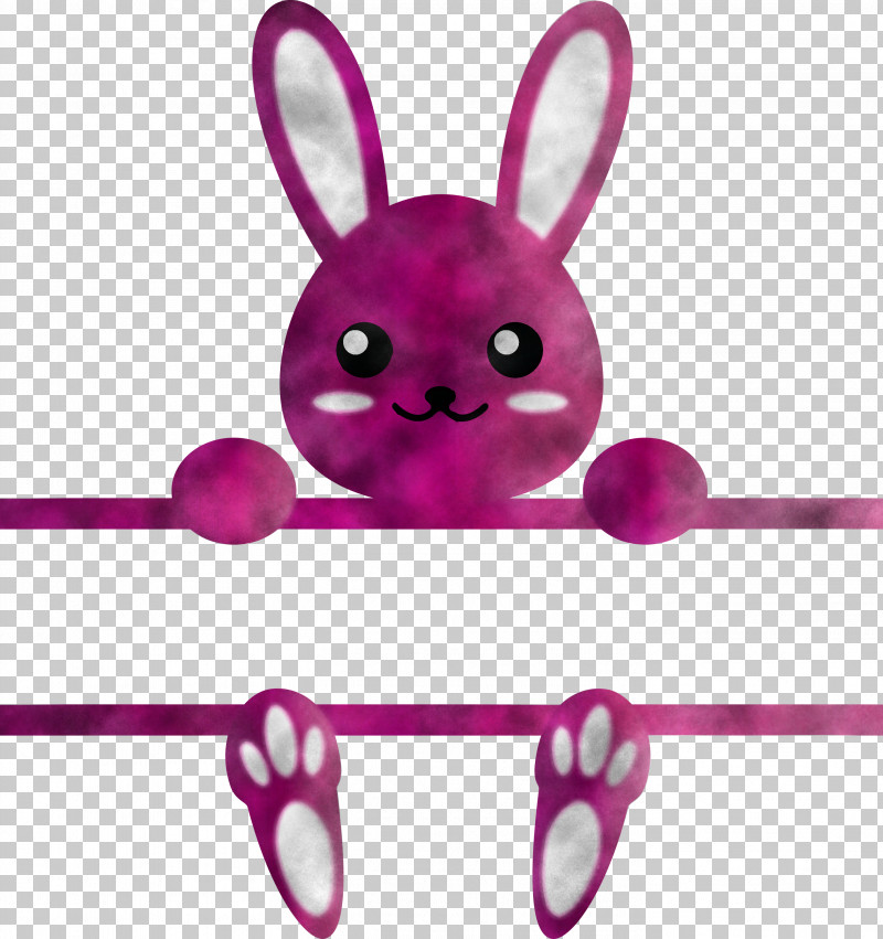 Bunny Frame Easter Day PNG, Clipart, Bunny Frame, Cartoon, Easter Bunny, Easter Day, Line Free PNG Download