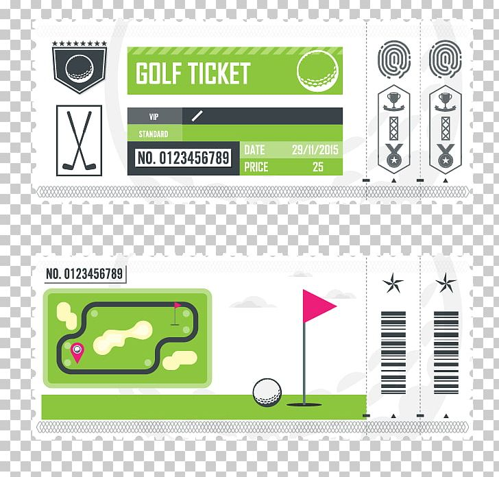 Ticket Golf Art PNG, Clipart, Air Ticket, Area, Art, Bill, Brand Free PNG Download