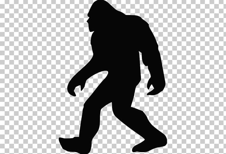 Bigfoot Silhouette Png Clipart Animals Arm Art Bigfoot