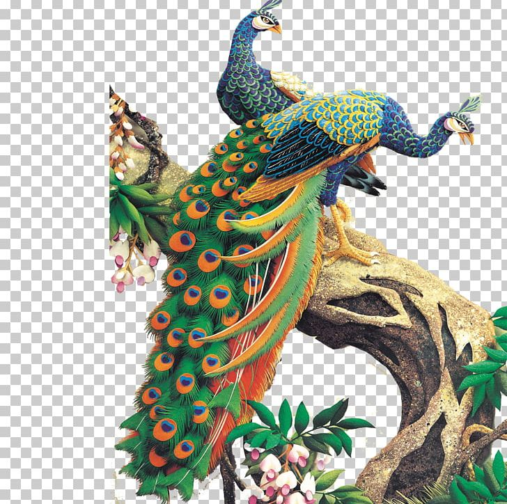 Jigsaw Puzzle Peafowl Painting Canvas PNG, Clipart, Animal, Animals, Art, Branches, Canvas Print Free PNG Download