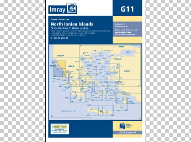 Ionian Islands Nautical Chart Admiralty Chart Map PNG
