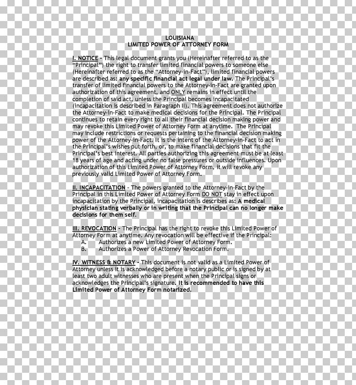 Power Of Attorney Form Healthcare Proxy Revocation Document