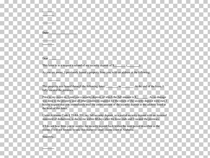 Not Refunding Security Deposit Letter from cdn.imgbin.com
