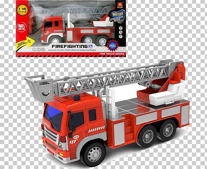 A fireman and a fire truck in front of the fire station. Illustration of a  fireman and a fire truck in front of the fire