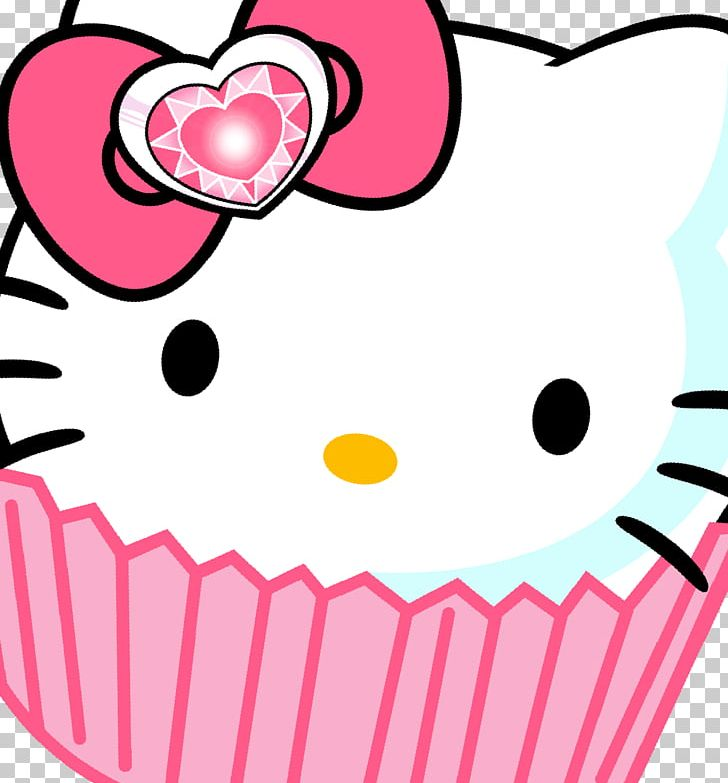 Hello kitty cake. Cupcake portable network graphics