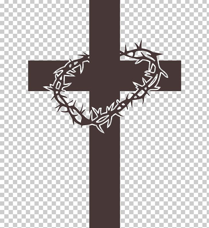 Crown Of Thorns Christian Cross Cross And Crown Christianity PNG, Clipart, Art Cross, Black And White, Christian Cross, Christianity, Christian Symbolism Free PNG Download