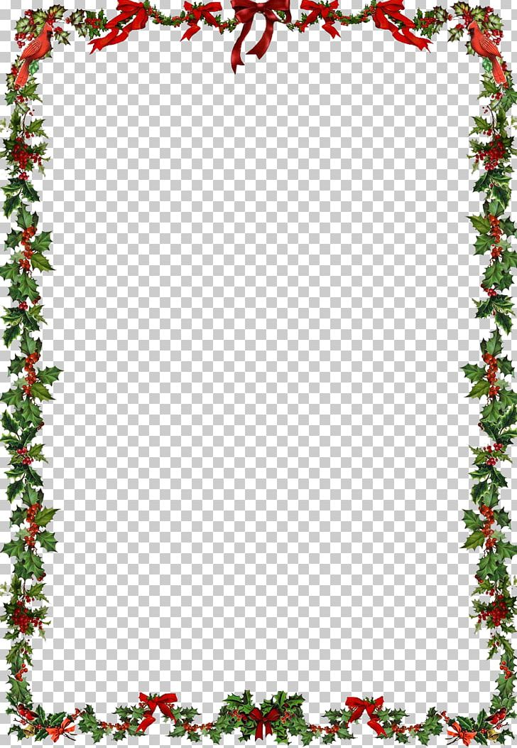 Christmas Ornament Santa Claus PNG, Clipart, Aquifoliaceae, Aquifoliales, Area, Border, Christmas Free PNG Download