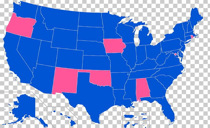 United States Gubernatorial Elections Png Clipart Blue Governor - Us-map-political-party