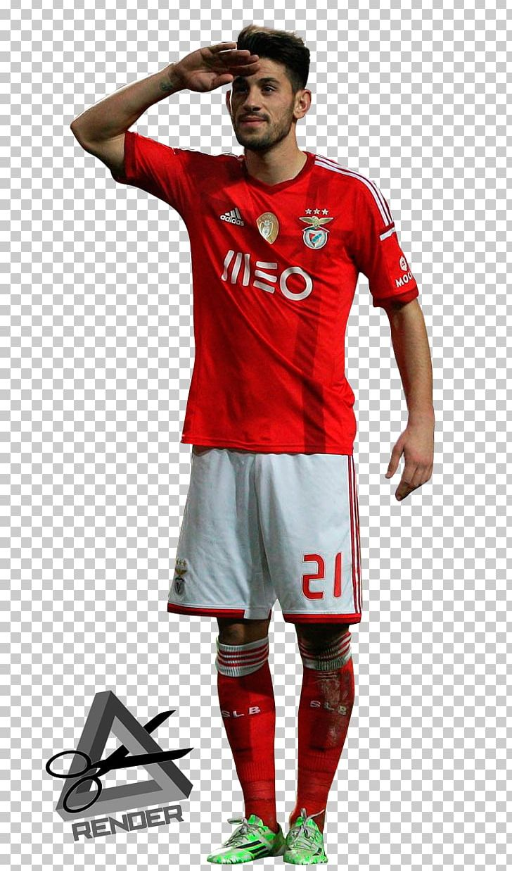 info for d536b c58fd Pizzi S.L. Benfica Jersey Rendering Football Player PNG ...