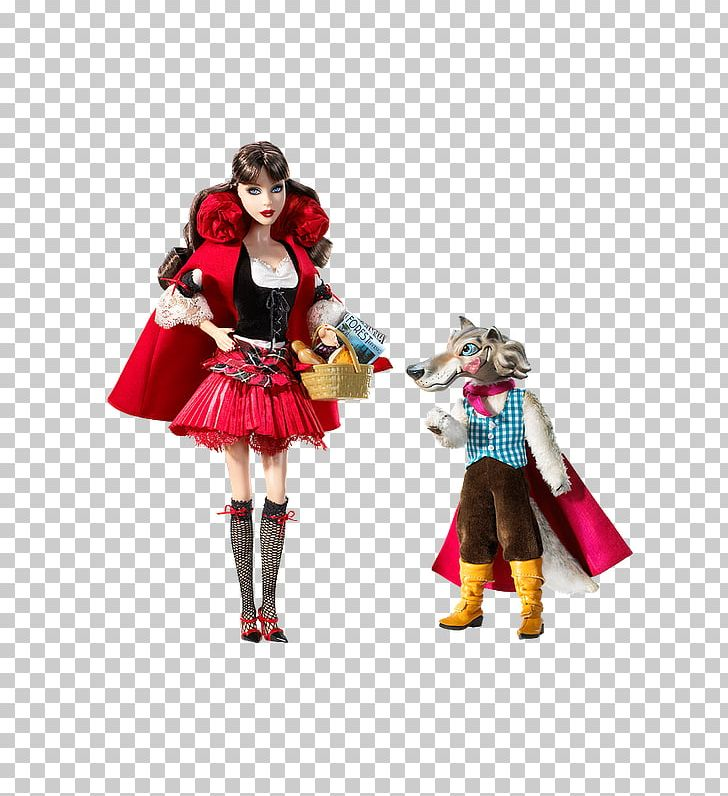 Little Red Riding Hood And The Wolf Barbie Giftset Ken Doll Png