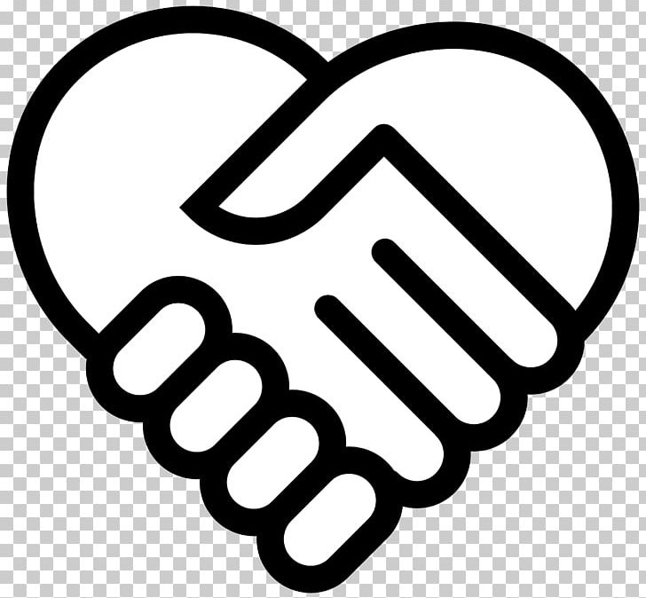 Handshake Hand Heart Symbol PNG, Clipart, Area, Black And