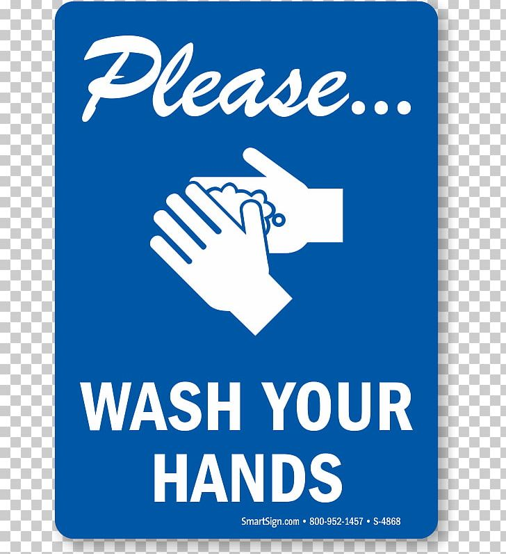 Hand Washing Hand Sanitizer Sign Hygiene PNG, Clipart, Area, Banner, Bathroom, Blue, Brand Free PNG Download