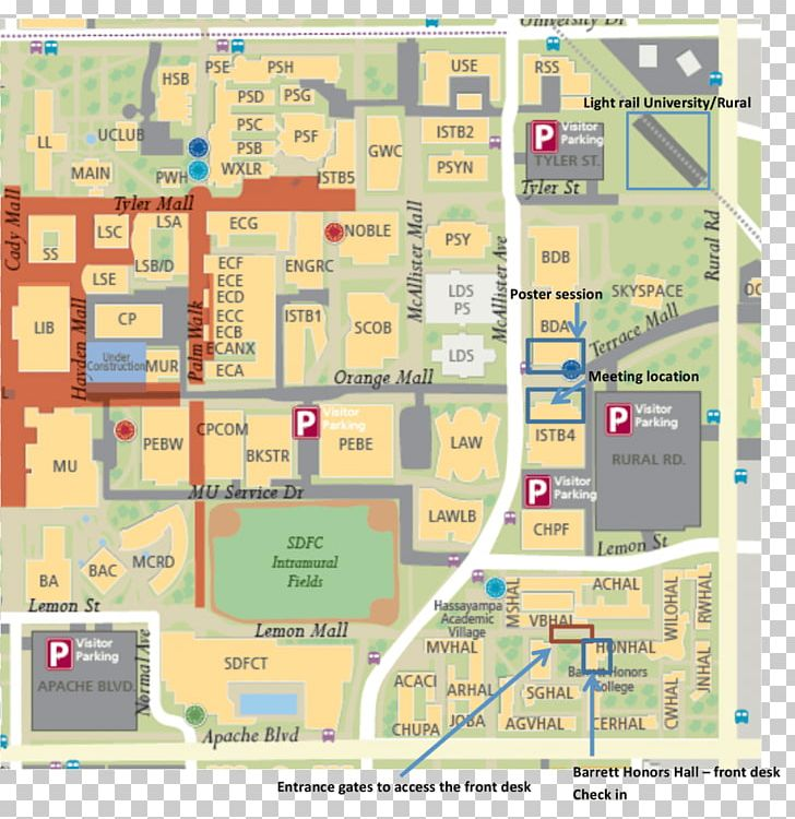Map Of The University Of Arizona.Barrett Png Clipart Arizona Arizona State Arizona State