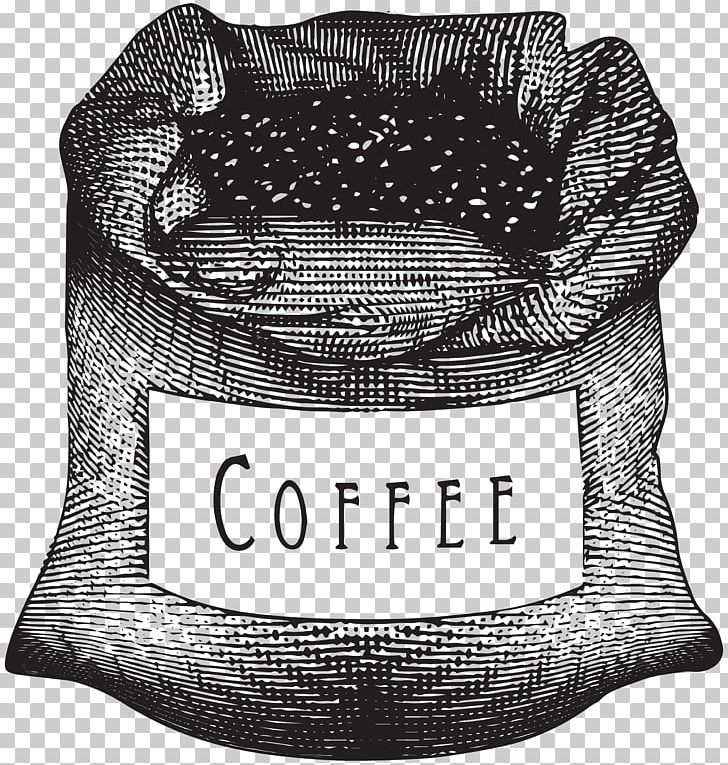 Coffee Cup Cafe Espresso Coffee Bean PNG, Clipart, Art Black And White, Bag, Brand, Burr Mill, Cafe Free PNG Download