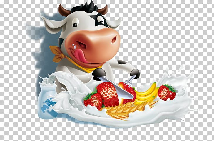Banana Flavored Milk PNG, Clipart, 3d Computer Graphics, Animals, Business, Cartoon Cow, Cattle Free PNG Download