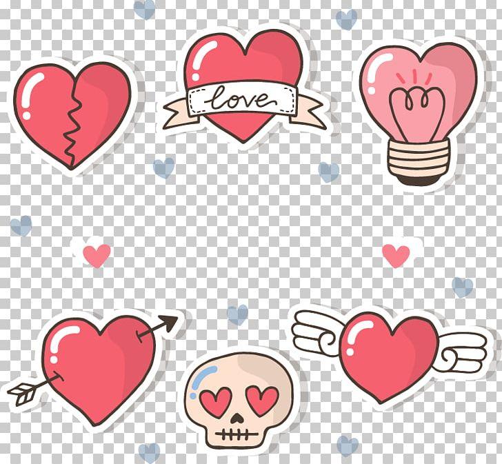 Hand-Painted Heart Sticker
