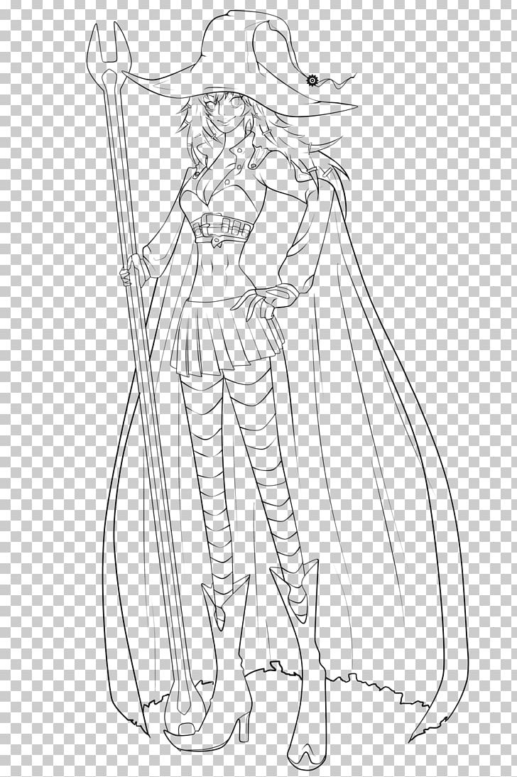 Line art drawing witchcraft anime sketch png clipart arm