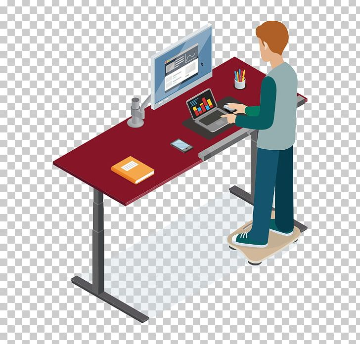 Standing Desk Standing Desk Balance Board Treadmill Desk PNG, Clipart, Angle, Balance, Balance Board, Business, Communication Free PNG Download