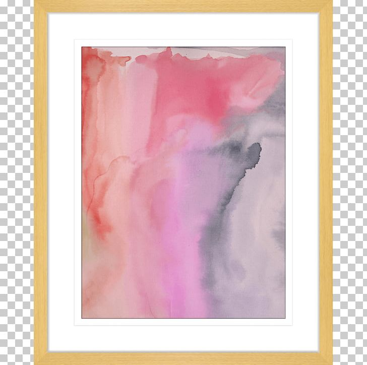 Watercolor Painting Frames Acrylic Paint Modern Art Pink M