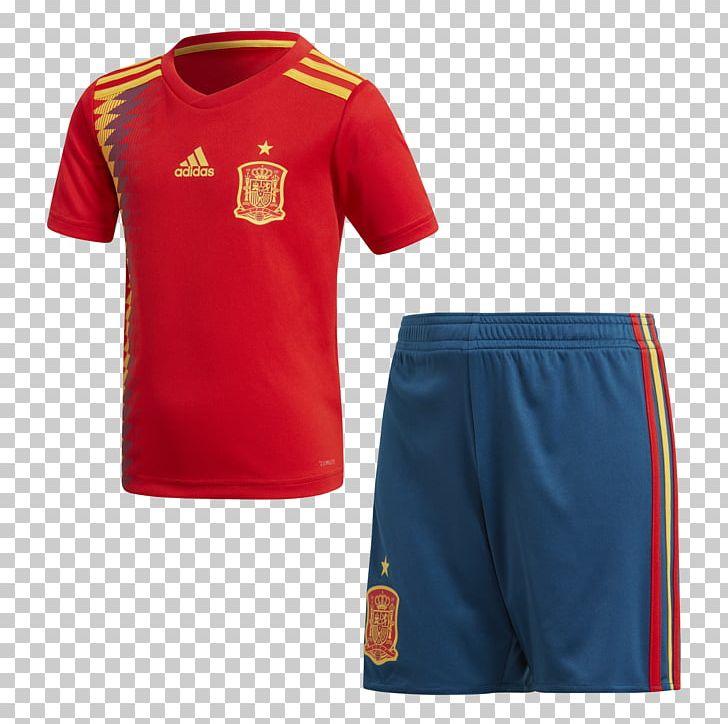 official photos d5450 a14e9 Spain National Football Team T-shirt 2018 World Cup Kit ...