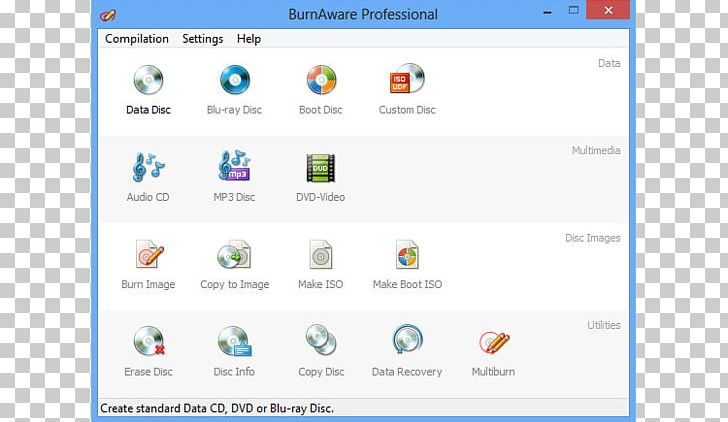 Blu-ray Disc BurnAware ISO Computer Software Free Software