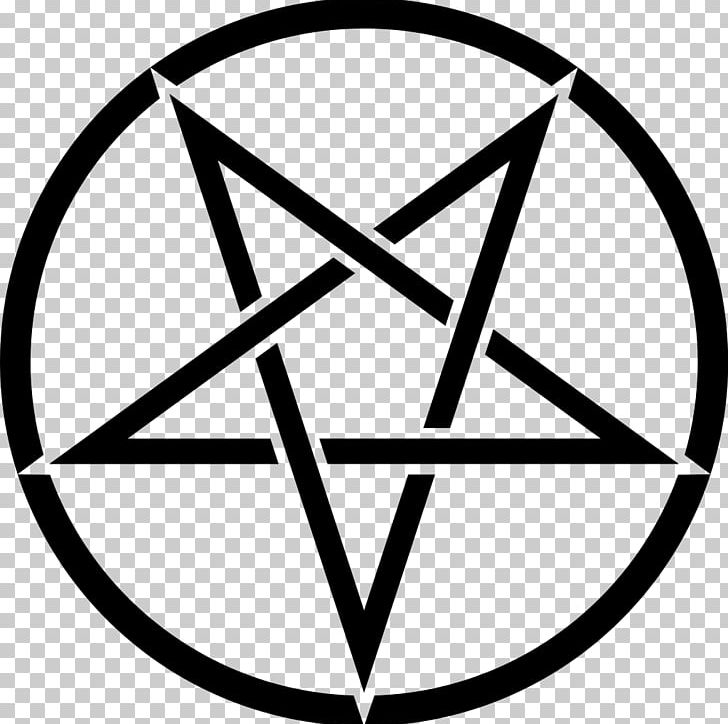 Pentagram Church Of Satan Pentacle Sigil Of Baphomet Satanism PNG, Clipart, Adversary, Angle, Area, Baphomet, Black And White Free PNG Download