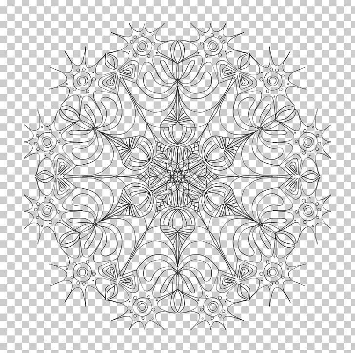 Mandala Drawing Png Clipart Ausmalbild Black And White