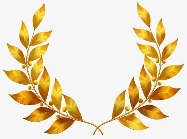 Golden Laurel Leaves Png Clipart Gold Golden Golden Clipart Golden Clipart Gold Leaf Free Png Download