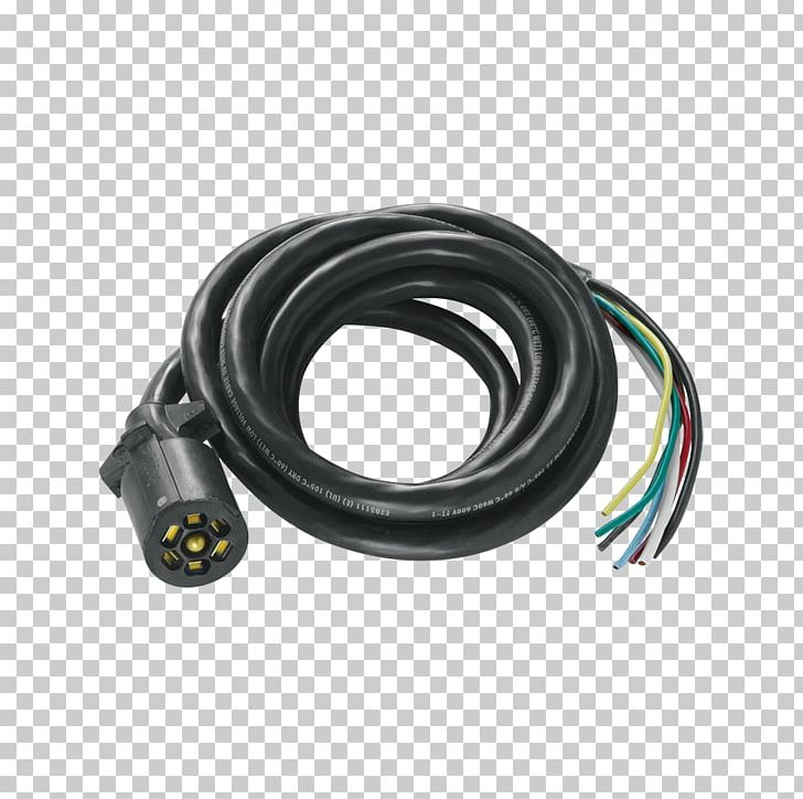 coaxial cable cable harness electrical wires & cable trailer connector png,  clipart, american wire gauge, cable,