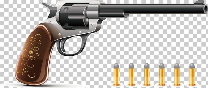 Bullet Firearm Pistol Revolver Handgun PNG, Clipart