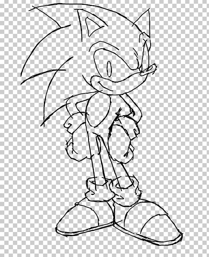 Line Art Sonic The Hedgehog Sonic Heroes Shadow The Hedgehog Drawing Png Clipart Angle Arm Art