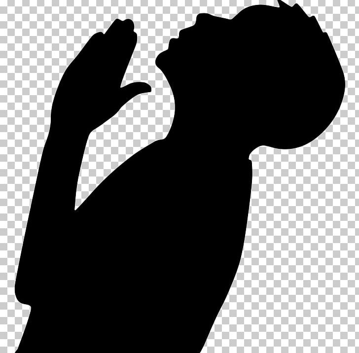 Praying Hands Prayer Silhouette PNG, Clipart, Angel Silhouette, Animals, Black, Black And White, Christian Prayer Free PNG Download