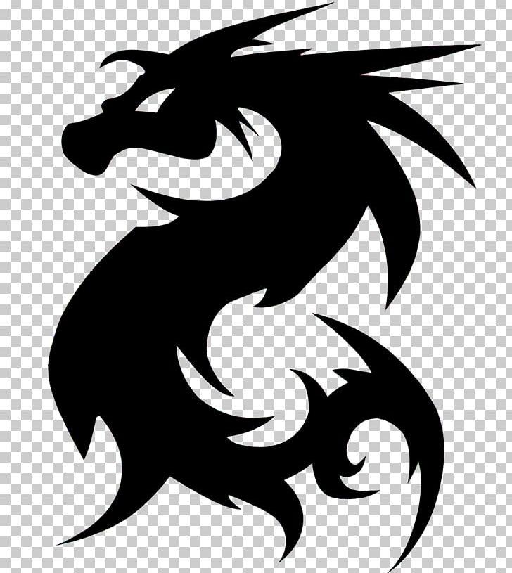European Dragon Legendary Creature Silhouette PNG, Clipart