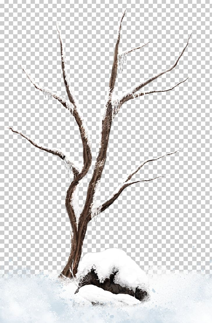 Bare Christmas Tree Clipart.Tree Branch Snow Png Clipart Black And White Branch