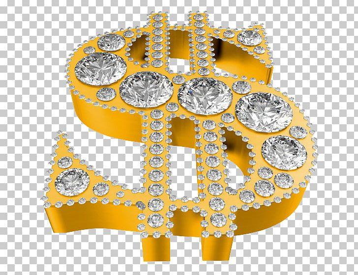Dollar sign diamond. Symbol stock photography png